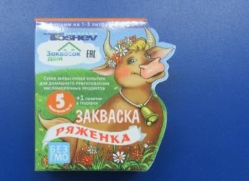 Закваска Ряженка Toshev (6 пакетиков по 1 гр.)