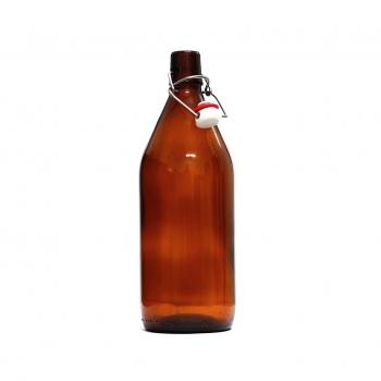 Бутылка пивная с бугельной пробкой 1 литр.